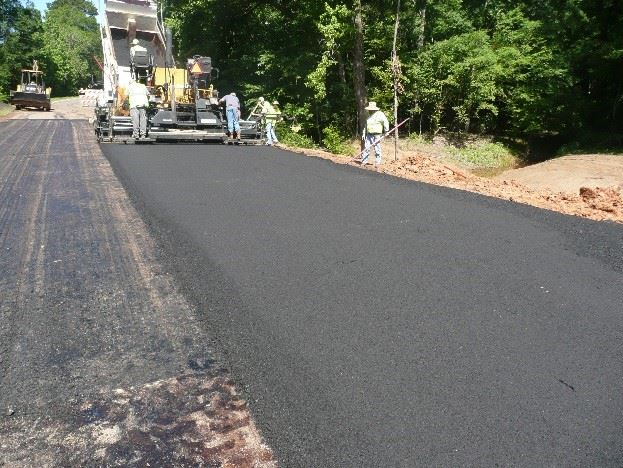 Paving of road