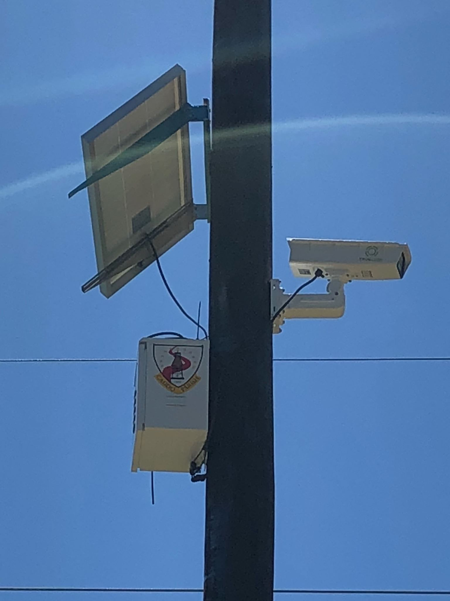 Video camera on telephone pole