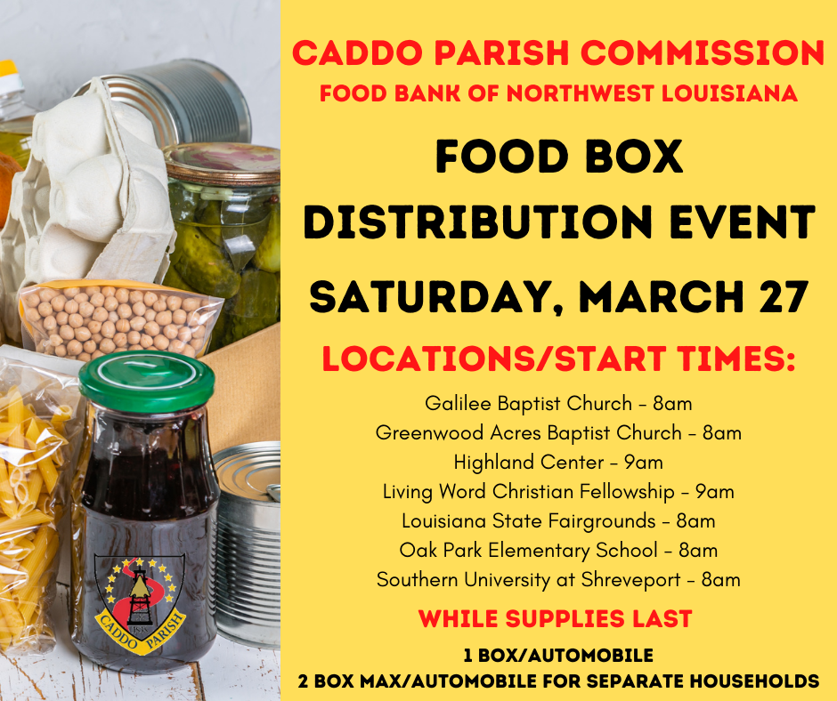 Food Box Distribution Event - Flyer